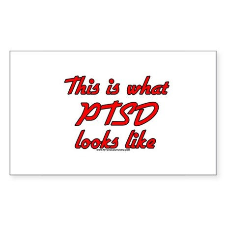 This Is What PTSD Looks Like Rectangle Sticker