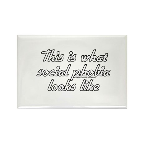 This Is What Social Phobia Lo Rectangle Magnet