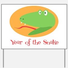 Cartoon Year of the Snake Yard Sign