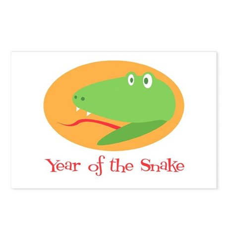 Cartoon Year of the Snake Postcards (Package of 8)