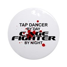 Tap Dancer Cage Fighter by Night Ornament (Round)