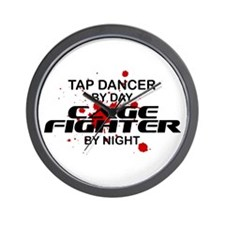 Tap Dancer Cage Fighter by Night Wall Clock