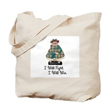 Country Girl Fight Win TEAL 1 Tote Bag