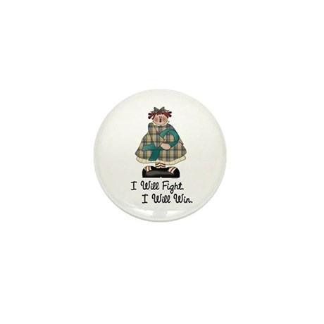 Country Girl Fight Win TEAL 1 Mini Button (10 pack