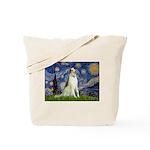 Starry Night & Borzoi Tote Bag