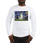 Starry Night & Borzoi Long Sleeve T-Shirt