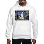 Starry Night & Borzoi Hooded Sweatshirt