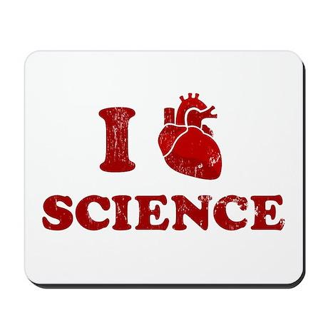 i love science Mousepad