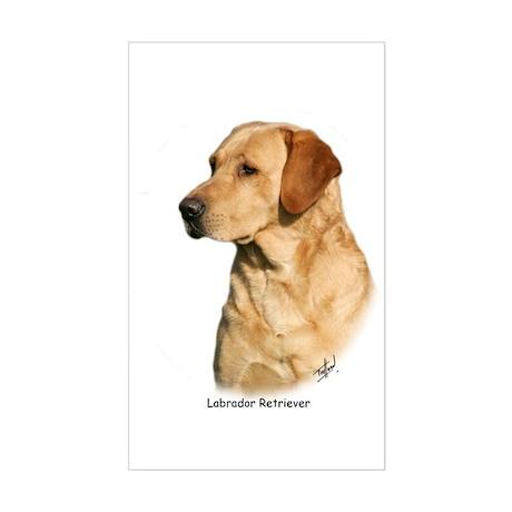 Labrador Retriever 9Y297D-038a Sticker (Rectangle)