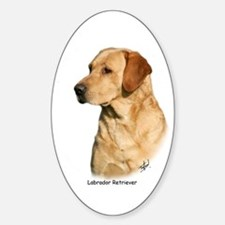 Labrador Retriever 9Y297D-038a Sticker (Oval)