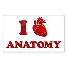 i love anatomy Rectangle Decal