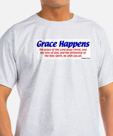 Grace Happens Ash Grey T-Shirt