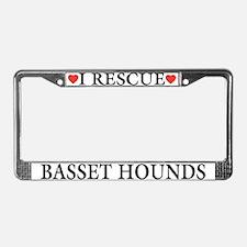 Basset Hound Rescue License Plate Frame