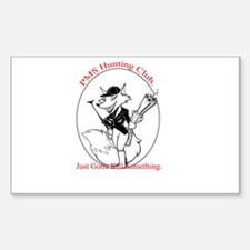 PMS Hunting Club Rectangle Decal