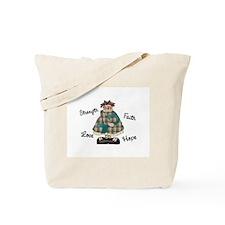 Country Girl Hope TEAL 2 Tote Bag