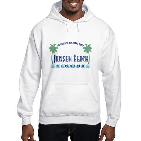 Jensen Beach Happy Place - Hooded Sweatshirt