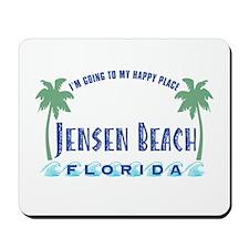 Jensen Beach Happy Place - Mousepad