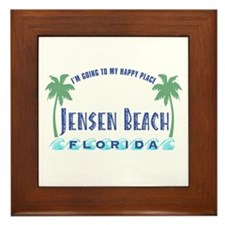 Jensen Beach Happy Place - Framed Tile