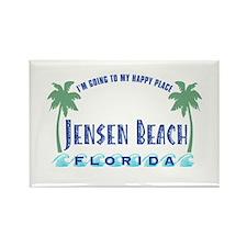 Jensen Beach Happy Place - Rectangle Magnet