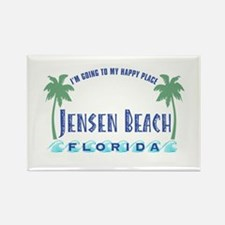 Jensen Beach Happy Place - Rectangle Magnet