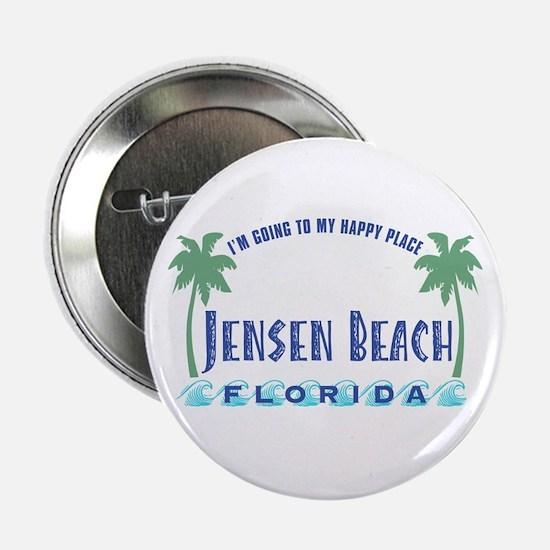 "Jensen Beach Happy Place - 2.25"" Button"