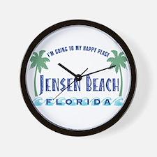 Jensen Beach Happy Place - Wall Clock