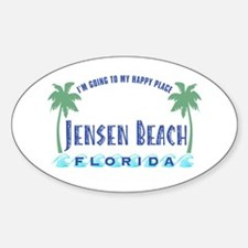 Jensen Beach Happy Place - Oval Decal