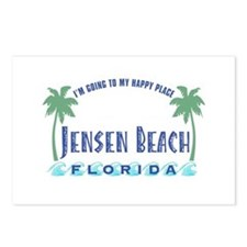 Jensen Beach Happy Place - Postcards (Package of 8