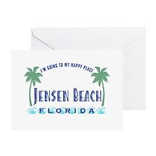 Jensen Beach Happy Place - Greeting Card