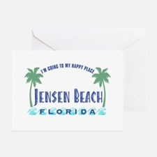 Jensen Beach Happy Place - Greeting Card