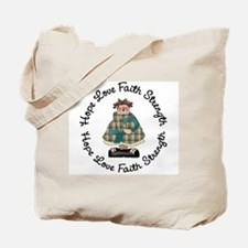 Country Girl Hope TEAL 3 Tote Bag