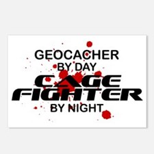 Geocacher Cage Fighter by Night Postcards (Package