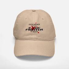 Geocacher Cage Fighter by Night Baseball Baseball Cap