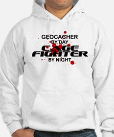 Geocacher Cage Fighter by Night Hoodie