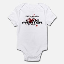 Geocacher Cage Fighter by Night Infant Bodysuit