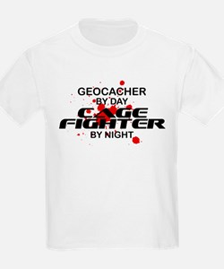 Geocacher Cage Fighter by Night T-Shirt