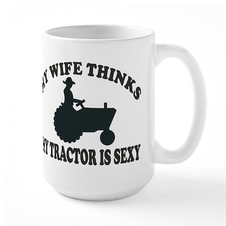 Tractor Sexy Large Mug