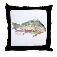 Vintage Something's Fishy Throw Pillow