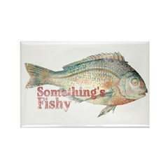 Vintage Something's Fishy Rectangle Magnet