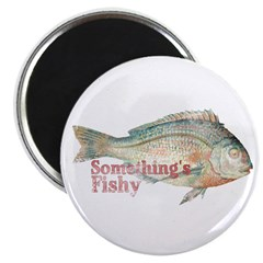 "Vintage Something's Fishy 2.25"" Magnet (10 pa"