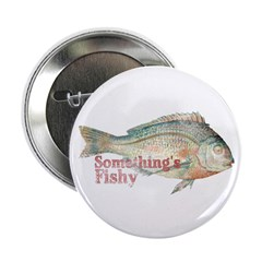 """Vintage Something's Fishy 2.25"""" Button (10 pa"""