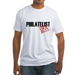 Off Duty Philatelist Fitted T-Shirt