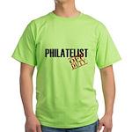 Off Duty Philatelist Green T-Shirt