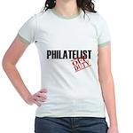 Off Duty Philatelist Jr. Ringer T-Shirt