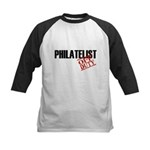 Off Duty Philatelist Kids Baseball Jersey
