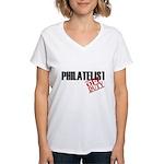 Off Duty Philatelist Women's V-Neck T-Shirt