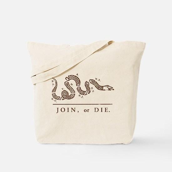Join or Die Tote Bag