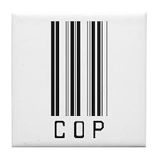 Cop Barcode Tile Coaster