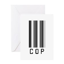 Cop Barcode Greeting Card