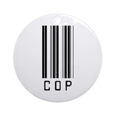 Cop Barcode Ornament (Round)